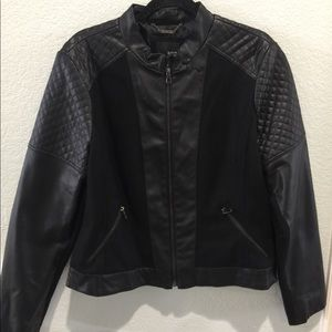 Black A.N.A Quilted Moto Jacket Like New!